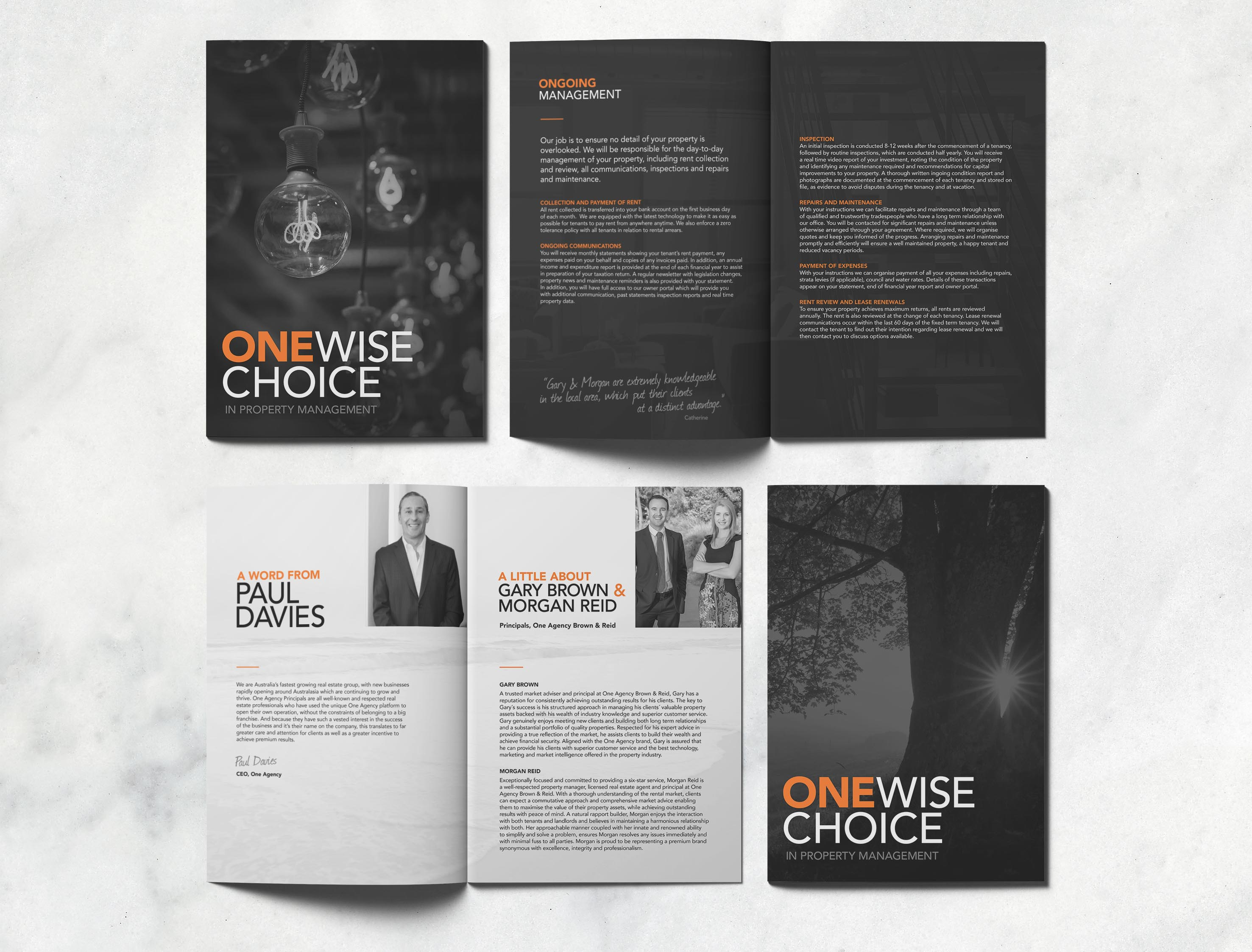 brochure design word