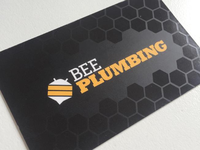 Bee Plumbing Business Cards