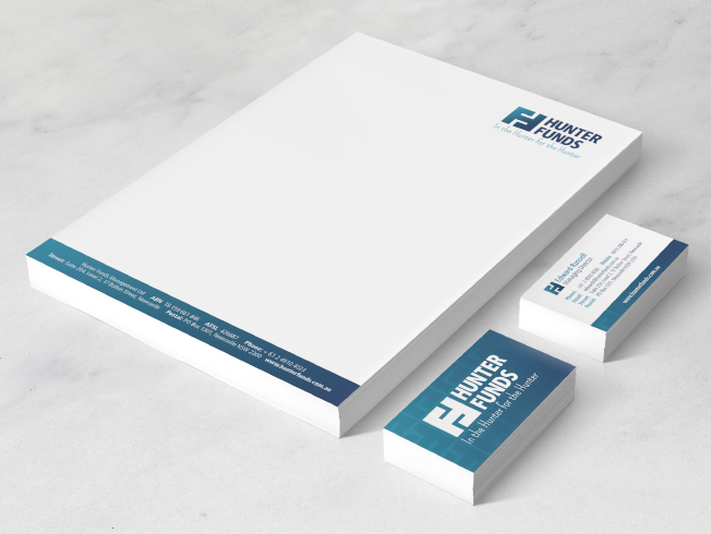 Hunter Funds Business Stationery